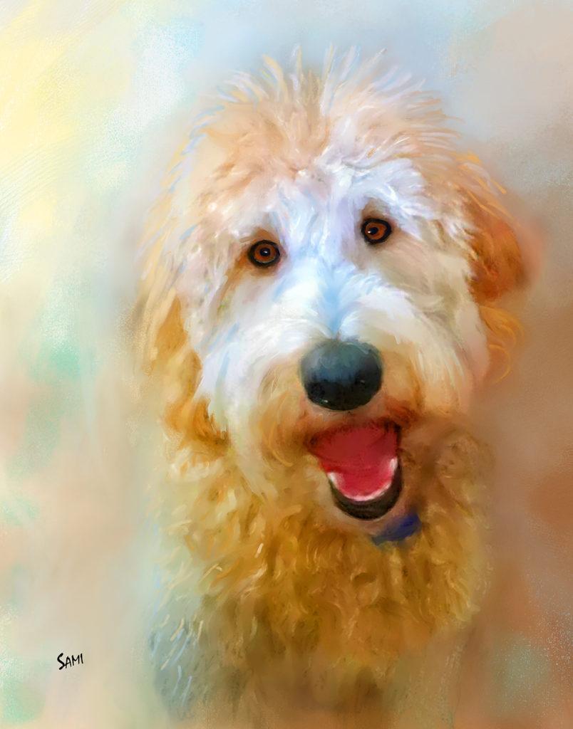 Golden Doodle Obie Portrait